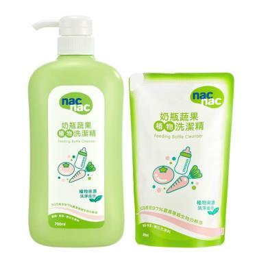 Nac Nac 奶瓶蔬果洗潔精/清潔液(1罐+1包)