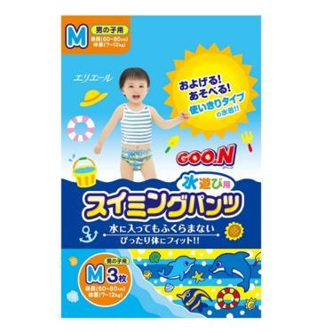 GOO.N 大王 戲水褲/游泳褲/玩水褲-男-M號(3片/包)
