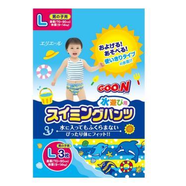 GOO.N 大王 戲水褲/游泳褲/玩水褲-男-L號(3片/包)