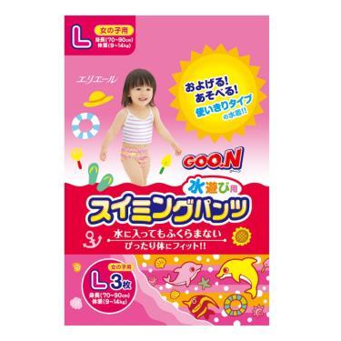GOO.N 大王 戲水褲/游泳褲/玩水褲-女-L號(3片/包)
