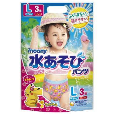 滿意寶寶 Moony 玩水褲/游泳尿褲/戲水褲-女-L3片/包