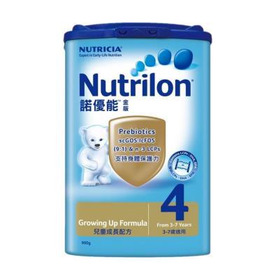 諾優能 金版 3-7歲兒童成長配方奶粉900g/罐