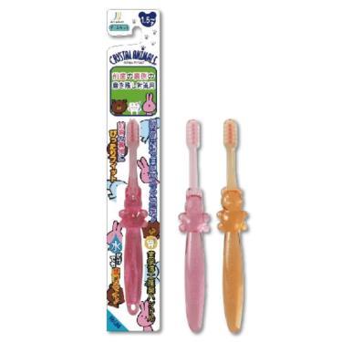 川西 水晶動物離子牙刷 圓形細毛 (1.5歲以上適用)