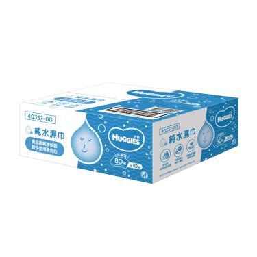 (滿額折/兩箱送)好奇 純水嬰兒濕巾厚型 80抽x10包-箱購 活動至09/30?