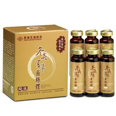 長庚生技 冬蟲夏草菌絲體純液(6瓶/盒) 1盒
