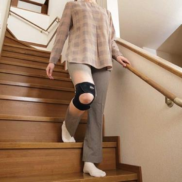 勝野式 溫感調整型膝套 黑色 L號