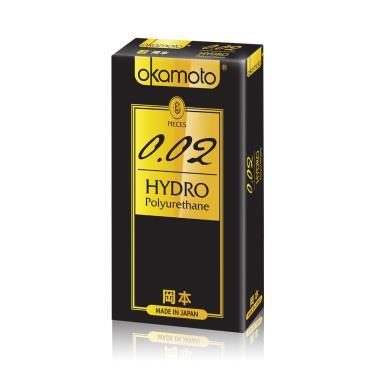 Okamoto岡本  002 Hydro水感勁薄 衛生套(6入裝)