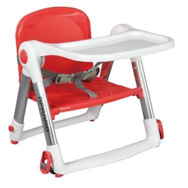 英國Apramo QTI Flippa 可攜式兩用兒童餐椅 -紅色(廠送)