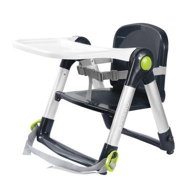 英國Apramo QTI Flippa 可攜式兩用兒童餐椅-黑灰色(廠送)