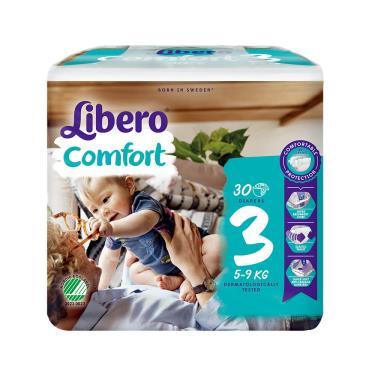 (送玩具)麗貝樂 嬰兒黏貼型紙尿褲/尿布 3號(S30片x6包/箱)