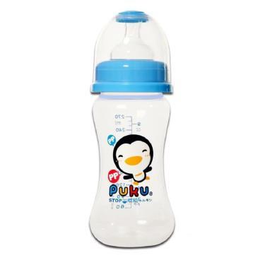 PUKU 藍色企鵝 寬口PP奶瓶270CC-水藍