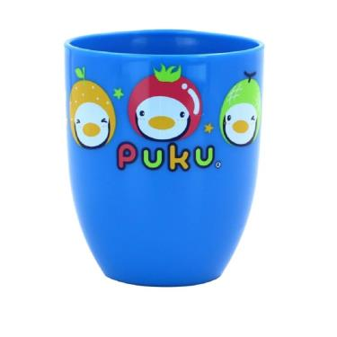 PUKU 藍色企鵝 可愛印花漱口杯-藍色