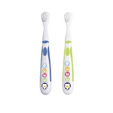 PUKU 藍色企鵝 雙色幼兒牙刷組2入(Ⅰ+Ⅱ)