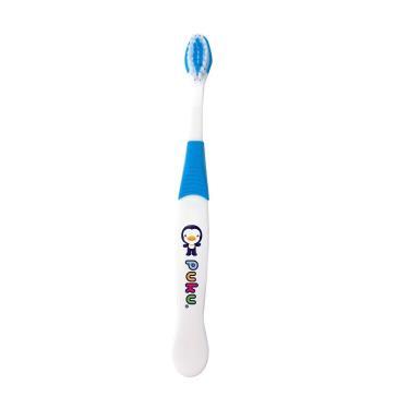 PUKU 藍色企鵝 兒童牙刷-藍色