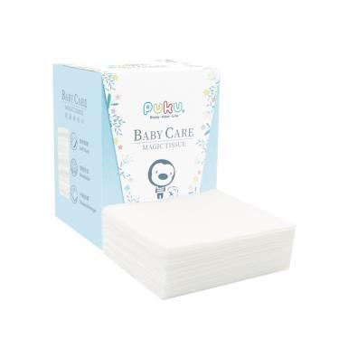 (可當口罩防護墊) PUKU 藍色企鵝 乾濕兩用紙巾-80抽