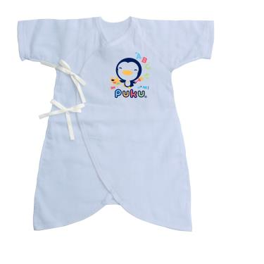 PUKU 藍色企鵝 紗布蝴蝶裝-(0~3月)60CM 水藍