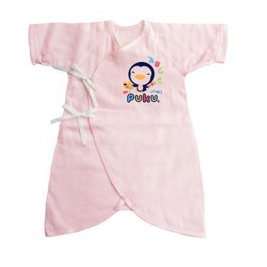 PUKU 藍色企鵝 紗布蝴蝶裝-(0~3月)60CM 粉紅