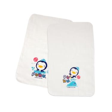 PUKU 藍色企鵝 紗布澡巾2入-30*45cm