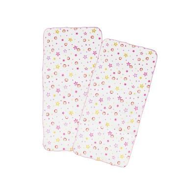 PUKU 藍色企鵝 印花紗布澡巾2入-30*60CM-粉色