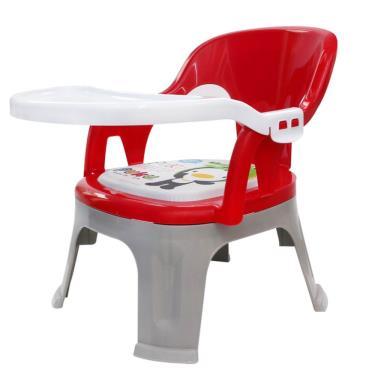 PUKU 藍色企鵝  Crocodile小鱷魚餐盤BB椅-紅色