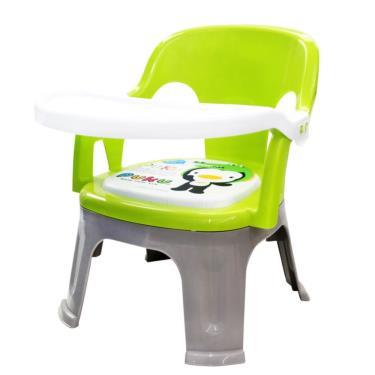 PUKU 藍色企鵝  Crocodile小鱷魚餐盤BB椅 綠色
