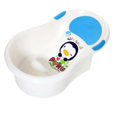 PUKU 藍色企鵝 mini浴盆/不滑落澡盆-水色