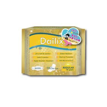 Dailix 抑菌抗敏淨味超乾爽透氣衛生棉-日用型 18片/包