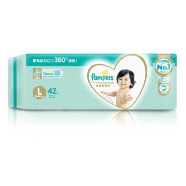 (2箱送媽媽包)幫寶適 一級幫黏貼型紙尿褲/尿布L42片x4包(箱購) 活動至09/30