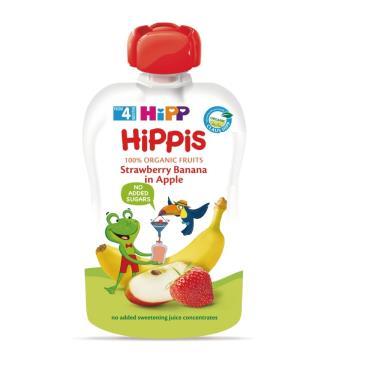 HIPP 喜寶 有機水果趣-蘋果草莓100g