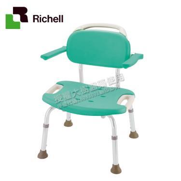 日本Richell利其爾 扶手型軟墊洗澡椅(椅面加寬)-綠色 廠送