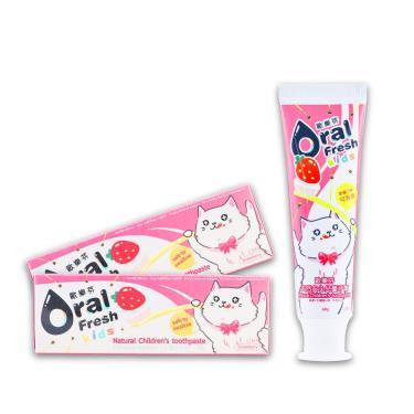 歐樂芬ORAL FRESH 天然安心兒童牙膏60g(草莓口味)