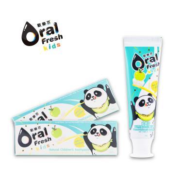 歐樂芬ORAL FRESH 天然安心兒童牙膏60g(蘋果口味)