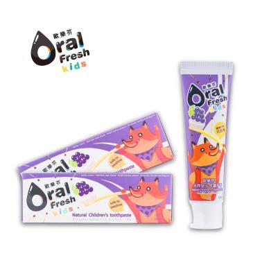 歐樂芬ORAL FRESH 天然安心兒童牙膏60g(葡萄口味)