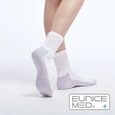 EuniceMed 優妮思 糖尿病足保健襪 銀纖維抗菌 保暖白色S(CPS-4001)