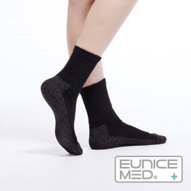 EuniceMed 優妮思 糖尿病足保健襪 銀纖維抗菌 保暖黑色M(CPS-4001)