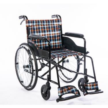 均佳 經濟型鐵製輪椅 固定扶手 固定腳 背不可折(布質) JW-001 廠送