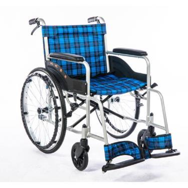均佳 經濟型鋁合金輪椅 固定扶手 背不可折 JW-100廠送