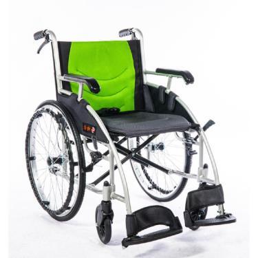 均佳 鋁合金流線型經濟款輪椅 背不折 JW-120 廠送