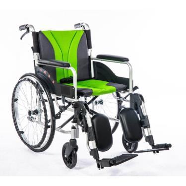 均佳 鋁合金骨科腳輪椅 背可折 固定扶手 靠腳側撥 JW-155 廠送