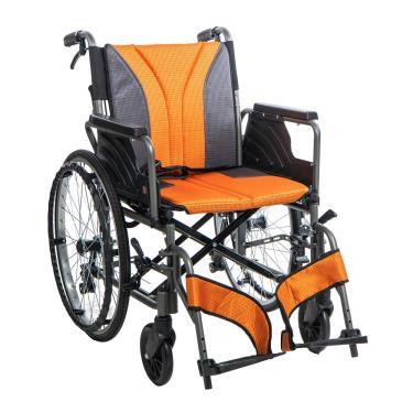 均佳 鋁合金多功能型輪椅 背可折 手腳可拆 座寬18吋 JW-160 廠送
