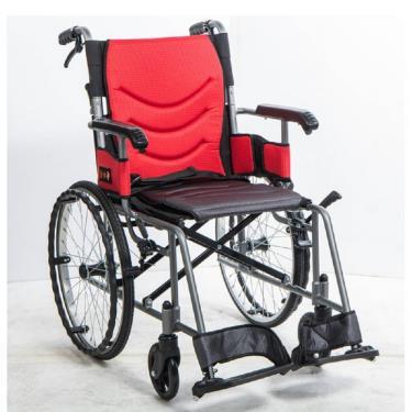 均佳 鋁合金輕量外出款輪椅 背可折 固定扶手 JW-230-20-F 廠送