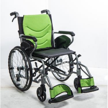 均佳 鋁合金防傾輪輪椅 可掀腳 背可折 固定扶手 中輪20吋 JW-250 廠送
