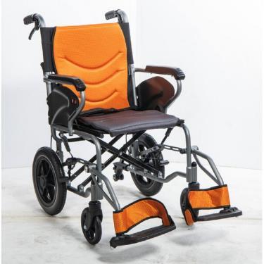 均佳 鋁合金防傾輪輪椅 可掀腳 背可折 固定扶手 小輪12吋 JW-350 廠送