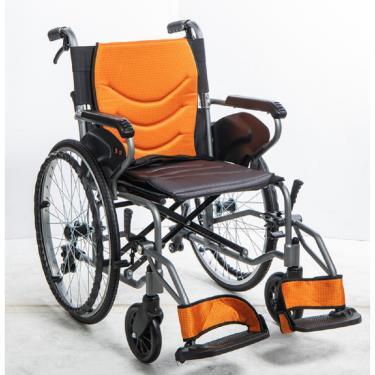 均佳 鋁合金防傾輪輪椅 可掀腳 背可折 固定扶手 大輪22吋 JW-450 廠送