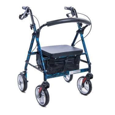 均佳 鋁合金四輪助行車一般型 藍色 JK-005  廠送
