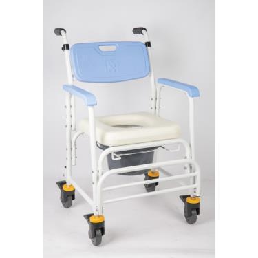 均佳 鋁合金洗澡便器椅加推手附輪JCS-205 廠送