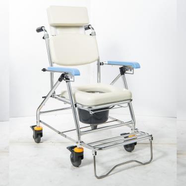 均佳 鋁合金可調洗澡便器椅(附輪+靠頭)JCS-207 廠送