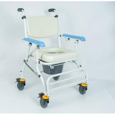 均佳 鋁合金推手型可收合附輪洗澡便器椅JCS-208 廠送