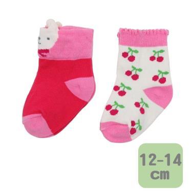 Baby City 娃娃城 櫻桃女童短襪 2入(12-14cm)