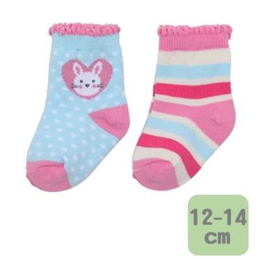 Baby City 娃娃城 兔兔女童短襪 2入(12-14cm)